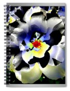 Silver Rose Spiral Notebook
