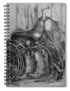 Silver Sands- Saddle And Boots Spiral Notebook