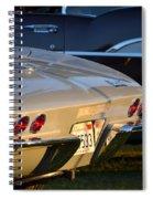 Silver Vette Spiral Notebook