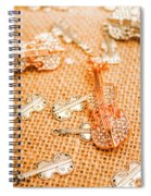Silver Violin Pendant With Diamonds Spiral Notebook