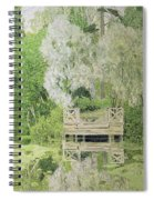 Silver White Willow Spiral Notebook