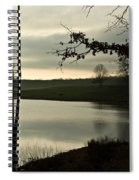 Silver Winter Lake Spiral Notebook