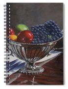 Silvered Fruit Spiral Notebook