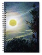 Silvery Moon Glow Spiral Notebook