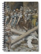 Simon The Cyrenian Compelled To Carry The Cross With Jesus Spiral Notebook