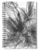 Simple Black And White Abstract Spiral Notebook