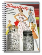 Simplicity Vintage Sewing Pattern - Color Spiral Notebook