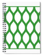 Simplified Latticework With Border In Dublin Green Spiral Notebook