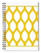 Simplified Latticework With Border In Mustard Spiral Notebook