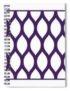 Simplified Latticework With Border In Purple Spiral Notebook