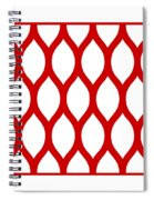 Simplified Latticework With Border In Red Spiral Notebook