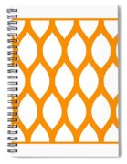 Simplified Latticework With Border In Tangerine Spiral Notebook
