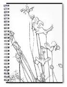 Simplistic Flower Sketch Spiral Notebook
