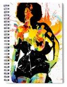 Simplistic Splatter Spiral Notebook