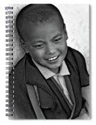 Simply Joy Bw Spiral Notebook