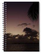 Simpson Bay Purple Sunset Saint Martin Caribbean Spiral Notebook