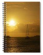 Simpson Bay Sunset Saint Martin Caribbean Spiral Notebook