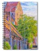Simrishamn Street Scene Digital Painting Spiral Notebook