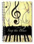 Sing The Blues Yellow Spiral Notebook