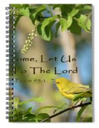 Sing To The Lord Spiral Notebook