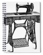 Singer Sewing Machine Spiral Notebook