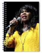 Singer Shirley Alston Reeves  Spiral Notebook