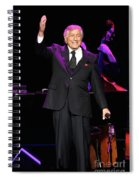 Singer Tony Bennett Spiral Notebook