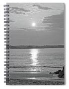 Singing Beach Rocky Sunrise Manchester By The Sea Ma Sand Black And White Spiral Notebook