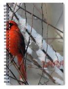 Singing Cardinal Christmas Card Spiral Notebook