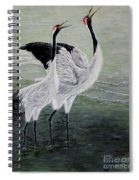 Singing Cranes Spiral Notebook