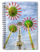 Singing Flowers Under The Space Needle Spiral Notebook
