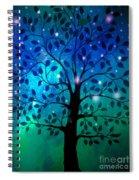 Singing In The Aurora Tree Spiral Notebook