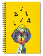 Singing The Blues - Dog Humor Spiral Notebook