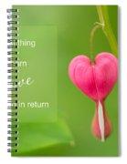 Single Bleeding Heart Flower In My Spring Garden Spiral Notebook