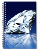 Single Blue Diamond Spiral Notebook