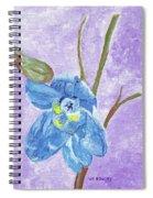 Single Delphinium Flower Spiral Notebook