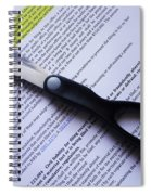 Single Finger Scissor Spiral Notebook