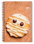 Single Homemade Mummy Cookie For Halloween Spiral Notebook