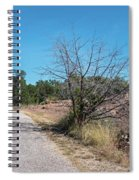 Single Lane Road In The Hill Country Spiral Notebook