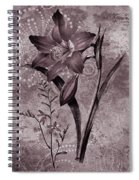 Single Lily-vintage Series  Spiral Notebook