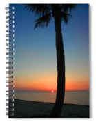 Single Palm And Sunset Spiral Notebook