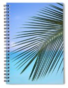 Single Palm Frond Spiral Notebook