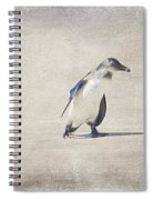 Single Penguin In Deep Thought Spiral Notebook