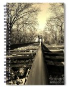 Single Track Mind - Sepia Spiral Notebook