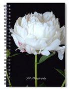 Single White Peony Spiral Notebook