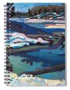 Singular Ice And Snow Spiral Notebook