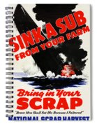 Sink A Sub From Your Farm Spiral Notebook