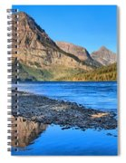 Sinopah Mountain Panoramic Reflections  Spiral Notebook
