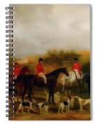 Sir Edmund Antrobus And The Old Surrey Fox Hounds At The Foot Of Spiral Notebook