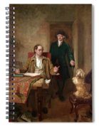 Sir Joshua Reynolds Visiting Goldsmith In His Study Spiral Notebook